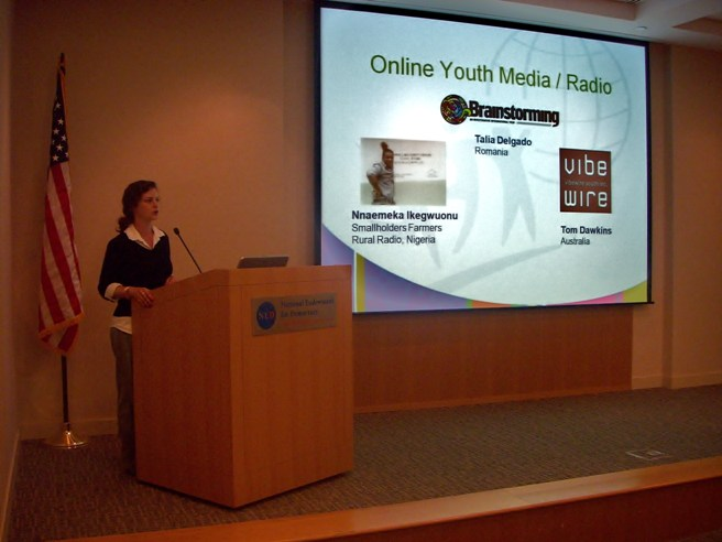 Katherine Kinzer of YouthActionNet discusses tools for reaching out to young people around the world.