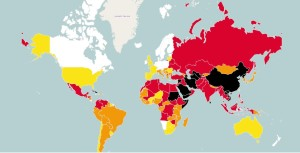 RSF's World Press Freedom Index 2015 map