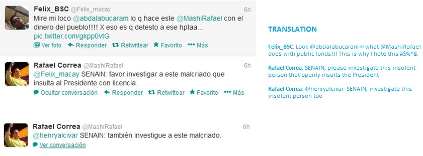 Tweets by Rafael Correa